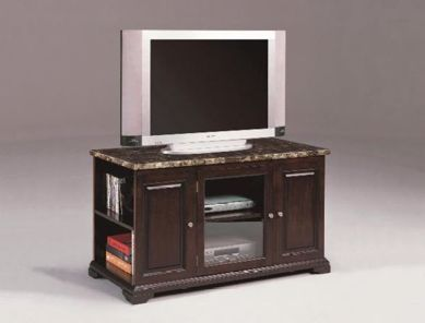 Picture of Harris - Espresso Marble Top TV Stand