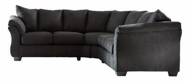 Picture of Darcy - Black Sectional