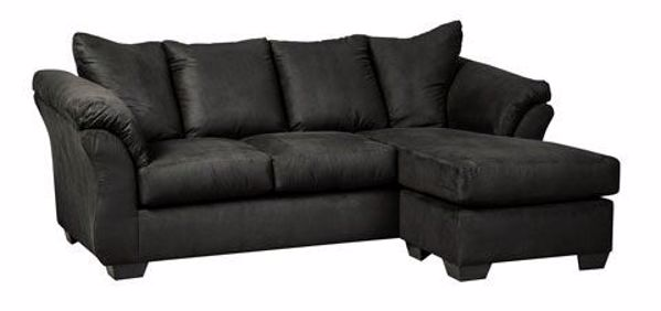 Picture of Darcy - Black Sofa Chaise