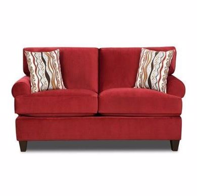 Picture of Jackpot - Red Loveseat