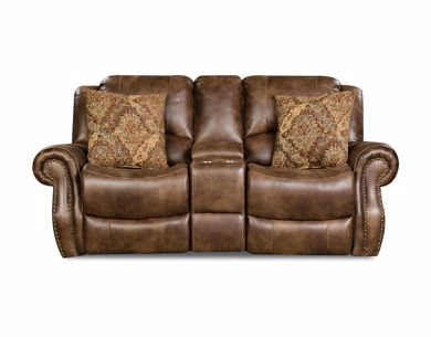 Picture of Waylon - Mocha Reclining Console Loveseat