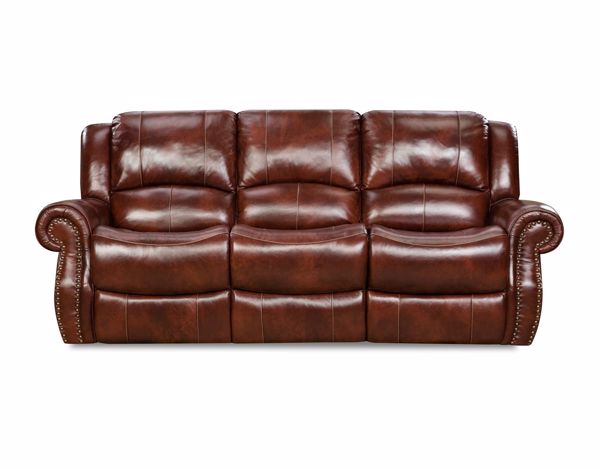 Picture of Softie - Oxblood Reclining Sofa