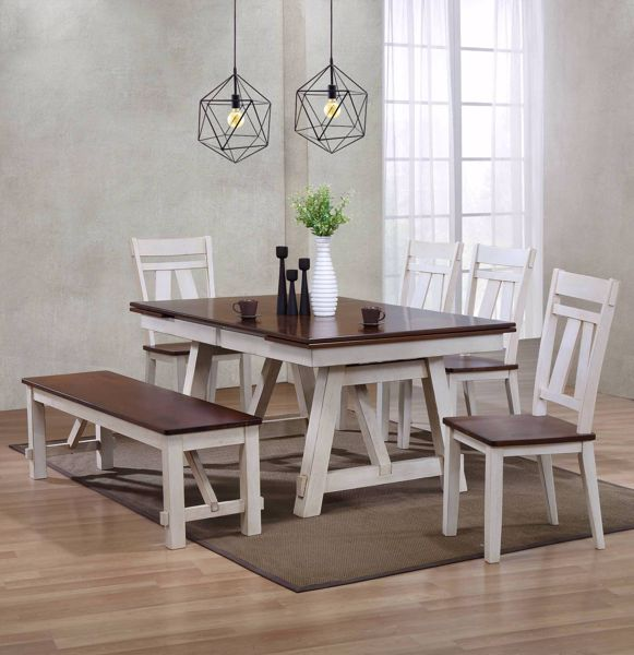 Enjoyable Winslow Table With 4 Chairs Bench Ncnpc Chair Design For Home Ncnpcorg