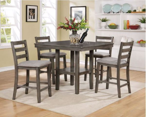 Picture of Tahoe - Gray Pub Table & 4 Stools