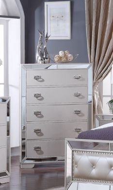 Picture of Gloria - White 5 Drawer Chest