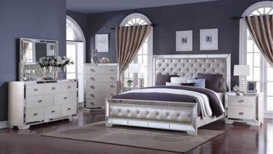 Picture of Gloria - White King Bed