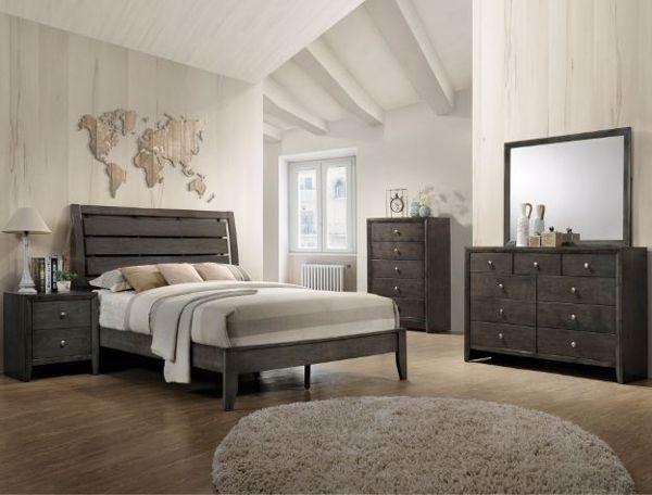 Picture of Evan - Gray Queen Bed