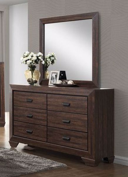 Picture of Farrow - Walnut Dresser & Mirror