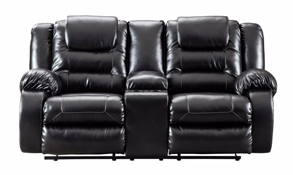 Outstanding Vacherie Black Reclining Console Loveseat Machost Co Dining Chair Design Ideas Machostcouk