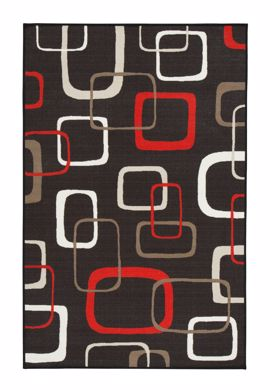 Picture of Johan - Black & Red 5X8 Rug