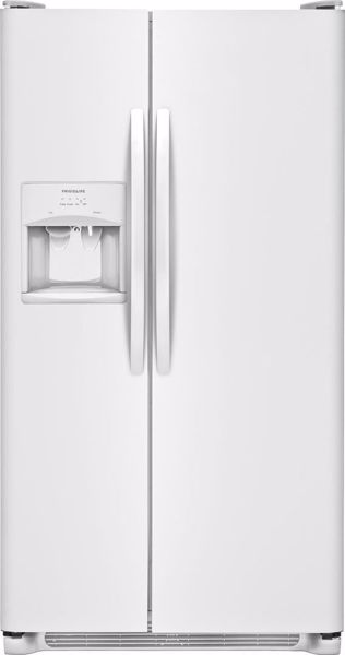 Picture of White Refrigerator SXS 26 CU FT