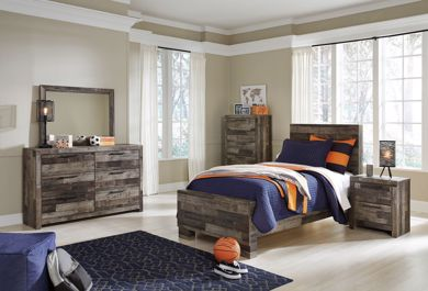 Picture of Derekson - Multi Gray Twin Bed