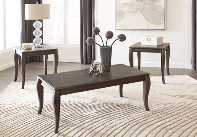 Picture of Vintelli - Metallic Gray 3pc Occasional Table Set