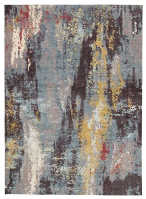 Picture of Quent - Marbled Blue/Gray/Yellow 5x7 Rug