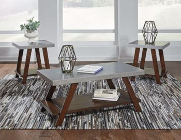 Picture of Bellenteen - Brown & Silver Occasional Table Set