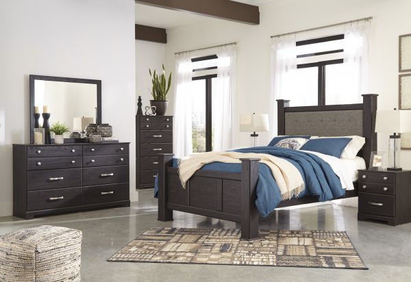 Picture of Reylow- Brown Queen Poster Bed