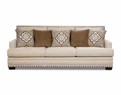 Picture of Anna - White Linen Sofa