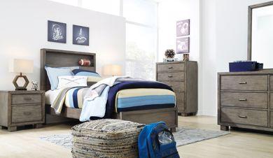 Picture of Arnett - Gray Full Bookcase Bed