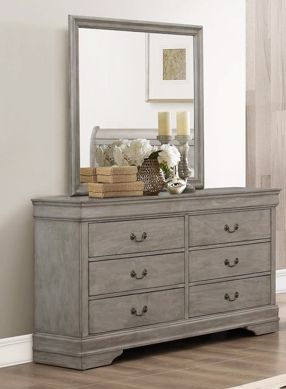 Picture of Louis Philip - Gray Dresser & Mirror