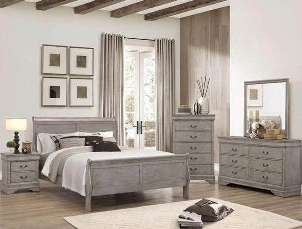 Picture of Louis Philip - Gray Queen Bed