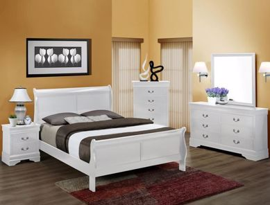 Picture of Louis Philip - White Full Bed