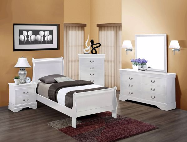 Picture of Louis Philip - White Twin Bed