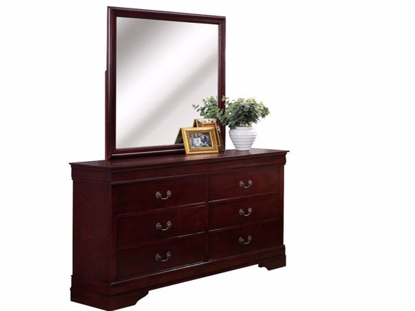 Picture of Louis Philip - Cherry Dresser & Mirror