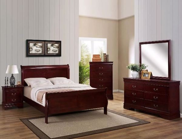 Picture of Louis Philip - Cherry King Bed