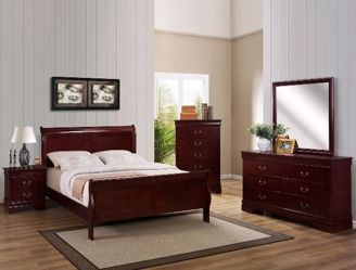 Louis Philip Cherry Queen Bed Kimbrell S Furniture