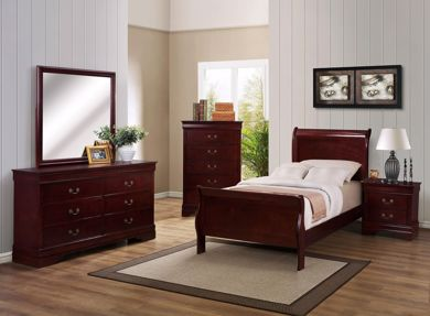 Picture of Louis Philip - Cherry Twin Bed