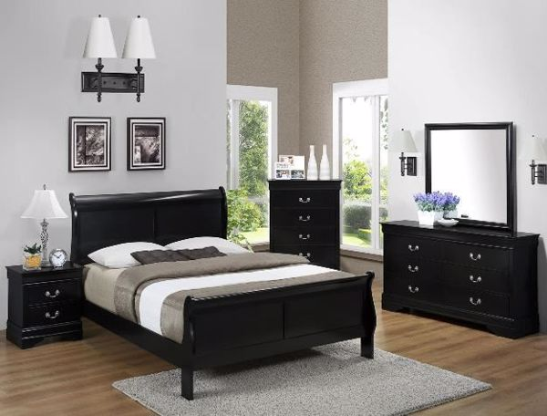 Picture of Louis Philip - Black Queen Bed
