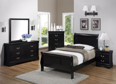Picture of Louis Philip - Black Twin Bed