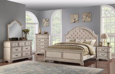Picture of Anastasia - White King Bed