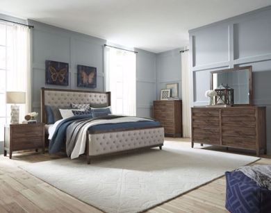 Picture of Cresswell - Queen Upholstered Bed