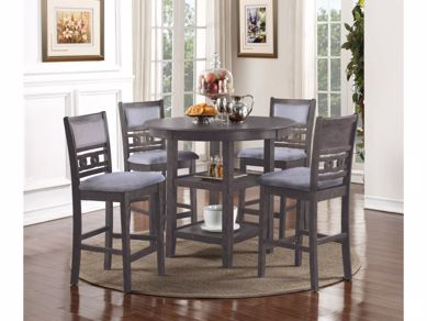 Picture of Gia - Gray Counter Height Table & 4 Stools