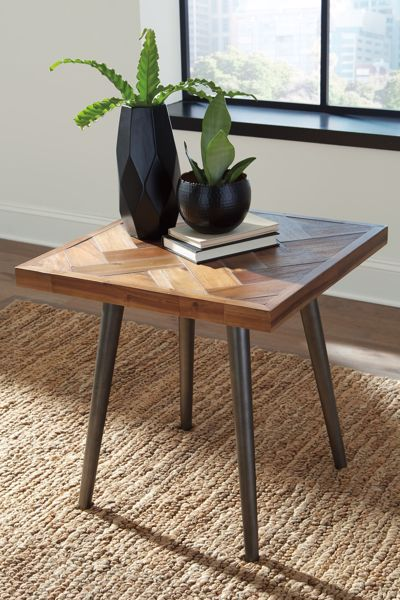 Picture of Vantori - Brown Square End Table
