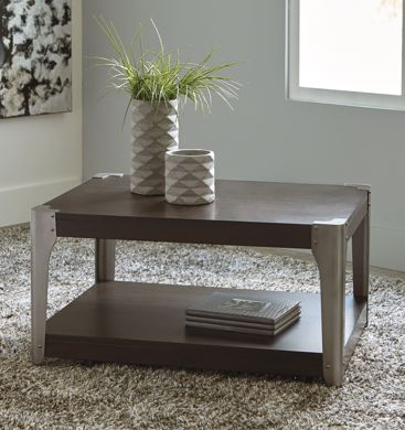 Picture of Geriville - Brown Rectangular Cocktail Table