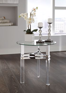 Picture of Braddoni - Chrome Round End Table