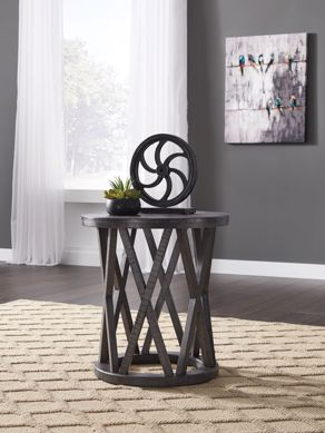 Picture of Sharzane - Gray Round End Table