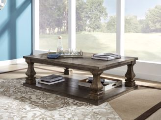 Distressed Gray Coffee Table.Johnelle Gray Cocktail Table