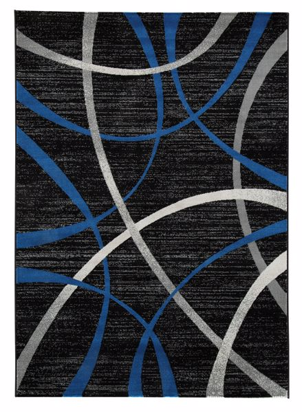 Picture of Jenue - Black/Gray/Blue 8x10 Rug