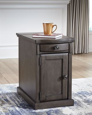 Picture of Laflorn - Gray Chairside Table