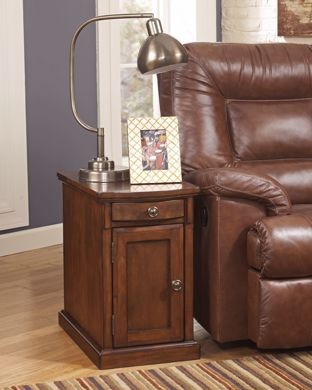 Picture of Laflorn - Light Brown Chairside Table