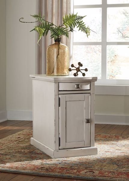 Picture of Laflorn - White Chairside Table