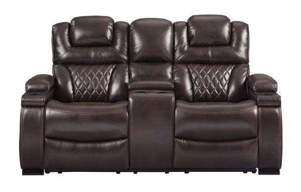 Picture of Warnerton - Chocolate Power Reclining Console Love