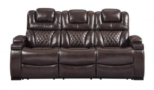 Picture of Warnerton - Chocolate Power Reclining Sofa