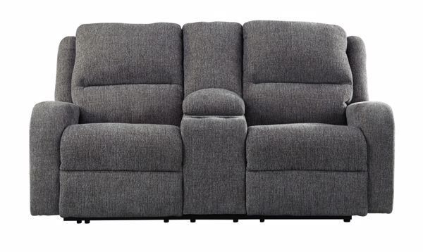 Picture of Krismen - Charcoal Power Reclining Loveseat