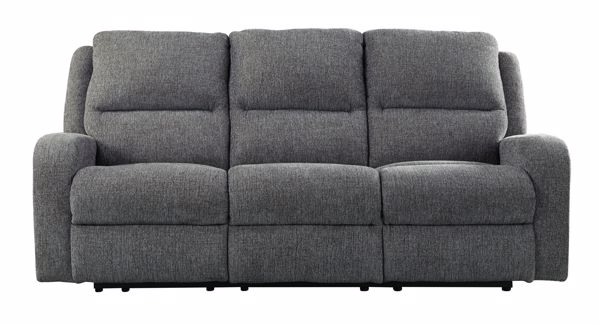 Picture of Krismen - Charcoal Power Reclining Sofa