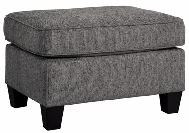 Picture of Agleno - Charcoal Ottoman