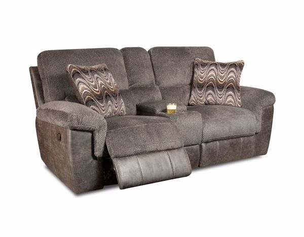 Picture of Monroe - Smoke Reclining Console Loveseat